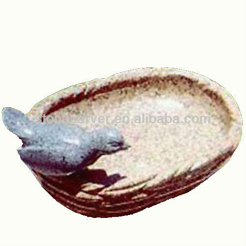 Granite Stone Carving Birdbath Natural Stone Birdbath