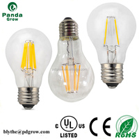 A60 Frosted Glass Lamp Shade North American Hot Product Residential Lighting 6w Led Filament Bulb
