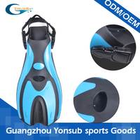 Professional high quality silicone rubber swimming training diving fins/flippers for adults