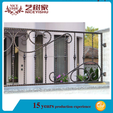 Yishujia factory fence posts metal fence designs/prefab iron fence panels/models wrought iron fence