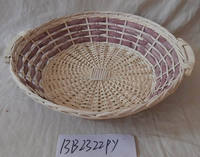 round wood chip serving tray with different color