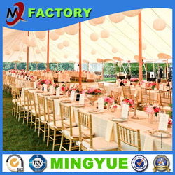 Leisure activity marquee beautiful waterproof transparent pvc cover wooden floor party event tent