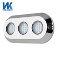 Hangzhou factory 180w super bright rgb ip68 stainless steel marine underwater led light for boat