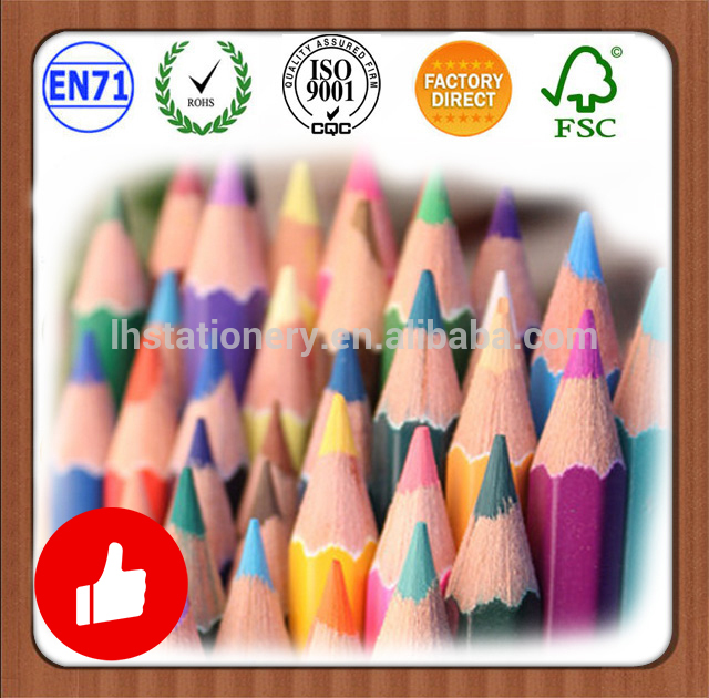 Customized 7'' 12pcs/set hexagonal colour pencil set with metal tin tube box and sharpener A Discount