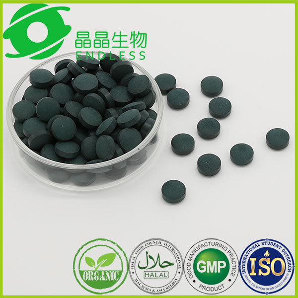 GMP manufacturer natural spirulina tablet body building tablet