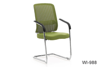 Multiple color optional comfortable steel frame office chair with mesh back