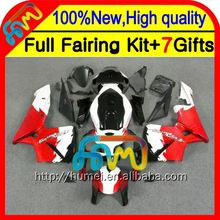 BodyInjection For HONDA Red white CBR 600RR 600 RR 05 06 25CL46 CBR600 RR 05-06 F5 Red black Hot CBR600RR 2005 2006 Fairing