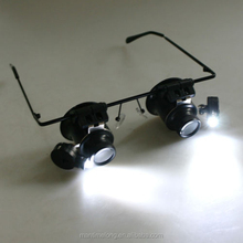 Eyeglasses Camera 20X magnifier with led light magnifier loupe plastic magnifier