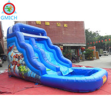 JMQ-W209 For sale customized with swimming pool giant inflatable water slide