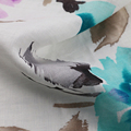 100% linen printed fabric for women's fashion dress