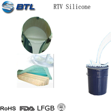 Low viscosity rtv silicone rubber to make mold