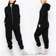 100% Polyester fashion women sleepwear wholesale soft fleece sexy adult onesie 2017
