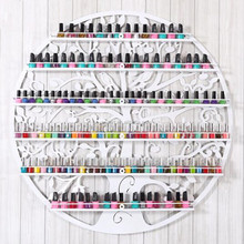 new arrival round wall-hung nail art metal display stand