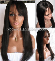 "22"" glueless hidden knots Brazilian human hair full lace wig with baby hair"