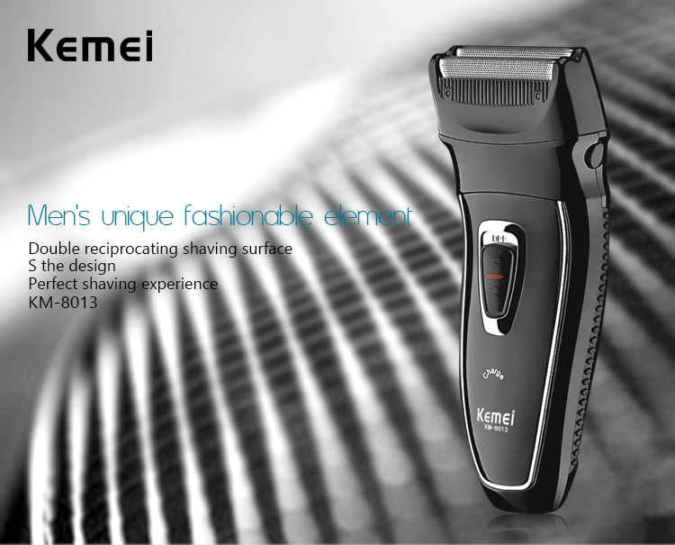 Kemei KM8013 Reciprocating Rechargeable Shaver with Double Head