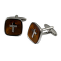 cross God Jesus Stainless Steel Cufflinks