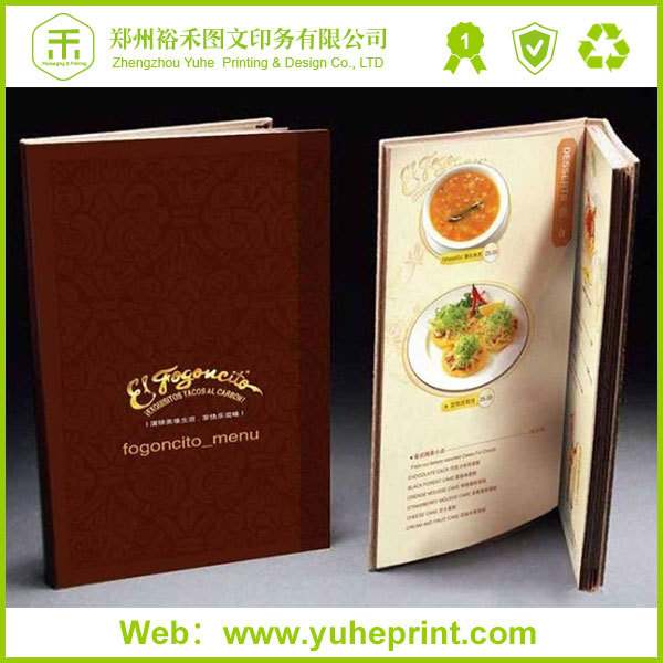 China factory price hot selling definition menu card for restaurant hotel