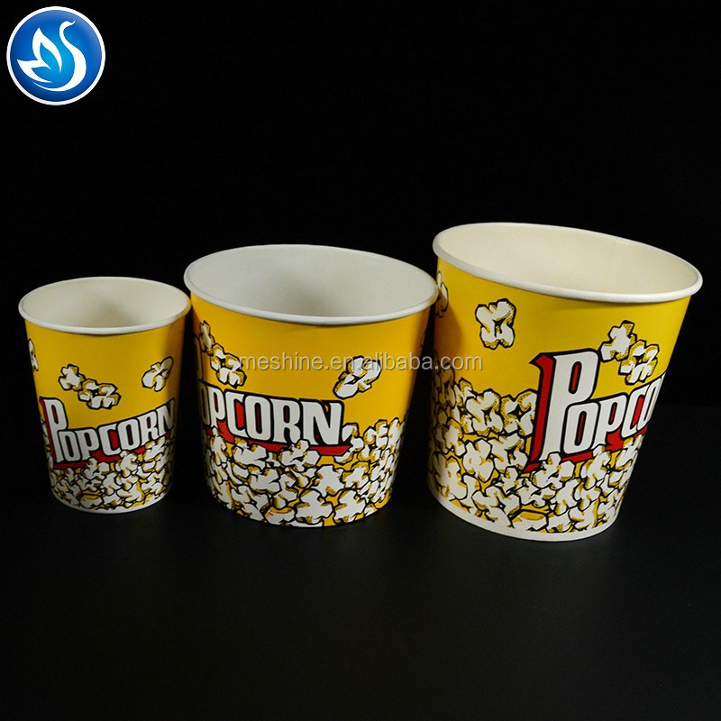 2017 high quality popcorn paper bucket wholesale