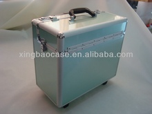 Aluminum case luggage elstree,cases luggage with Nylon and Bag inner,leather pilot trolley case