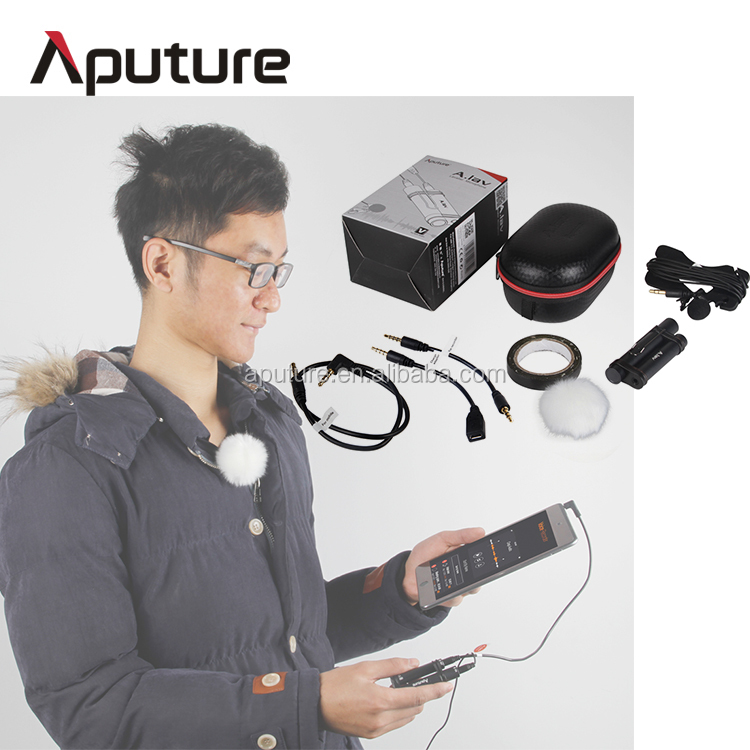 Aputure lavalier best microphone smartphone, external mic for cell/mobile phone
