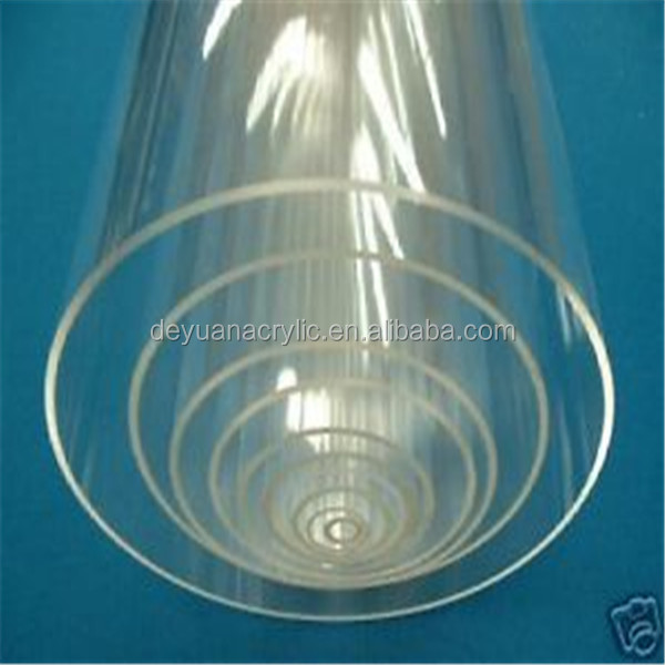 custom size clear hollow acrylic tube/clear round acrylic tube