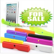 2 in 1 Stylish Silicon Acoustic Horn Stand + Amplifier Speaker for New iPad
