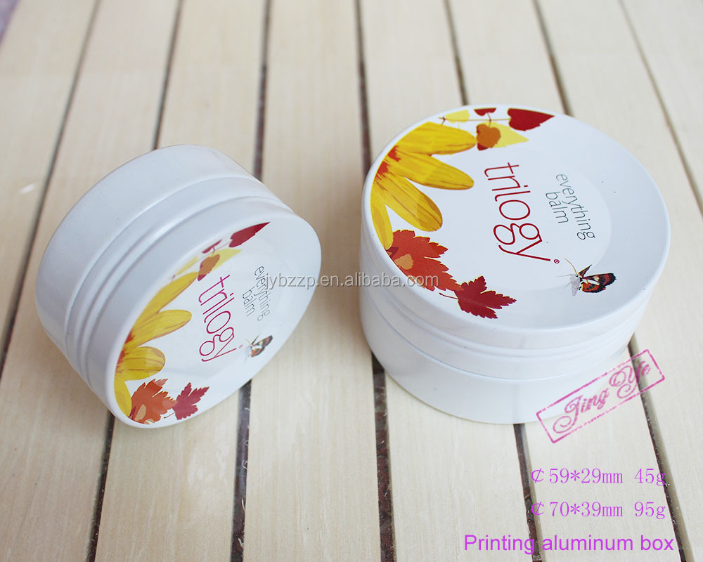 100g cosmetic alumnium pot,custom printed tin cans,round metal tin cans