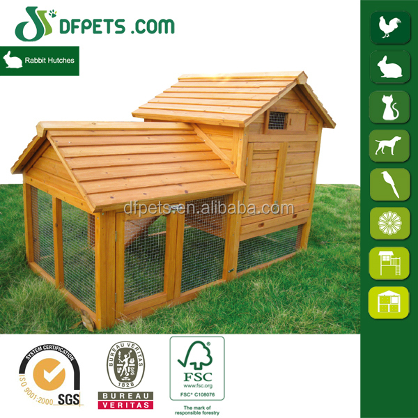 Large Run Wooden Custom Rabbit Hutch