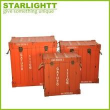 Handmade Container Shaped Wooden Trunk
