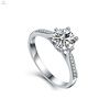 2018 Wedding Jewelry Bule S925 Sterling Silver Zircon Rings Women