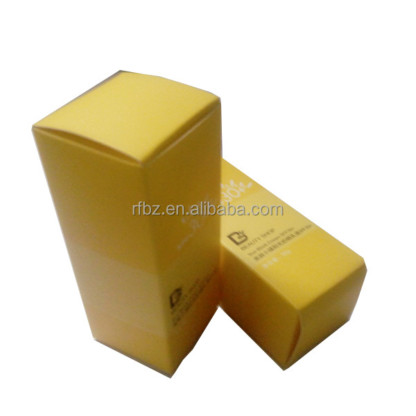 decoration yellow coated paper cosmetics packaging boxes