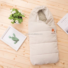 Newborn baby skin-friendly organic cotton sleeping bag stroller wrap sleep sack
