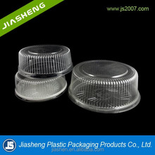 Cheap Transparent/Clear plastic Cake box packaging Round