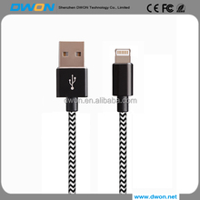 Hot selling alibaba nylon braided 8pin usb 2.0 cable for apple mfi , mfi certified charging data usb 2.0 cable for iphone