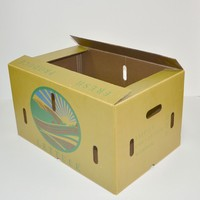Waterproof corrugated box wax boxes/waxed cartons /frozen food box packaging