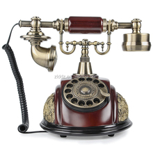 Vintage Style Classic Rotary Retro Telephone With Sim Card