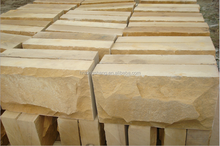 exterior wall decorative yellow mushroom sand stone