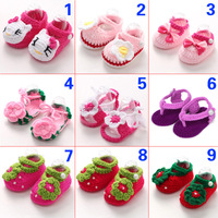 Fashion Hand crochet baby shoes wholesale cute handmade crochet knitting baby shoes flower crochet baby girl shoes