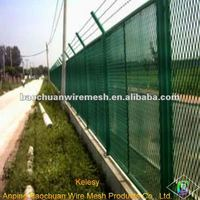 High quality green galvanized road glare mesh in store
