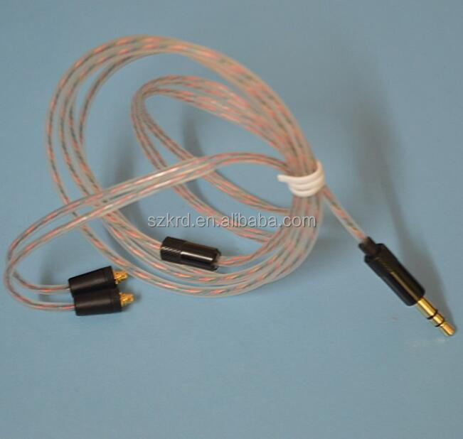 Copper Plated Silver Replacement Earphone Cable for Shure SE215 SE425 SE535 SE846 UE900 Headphone Audio Cables