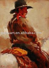 Cowboy oil painting, NZ-086