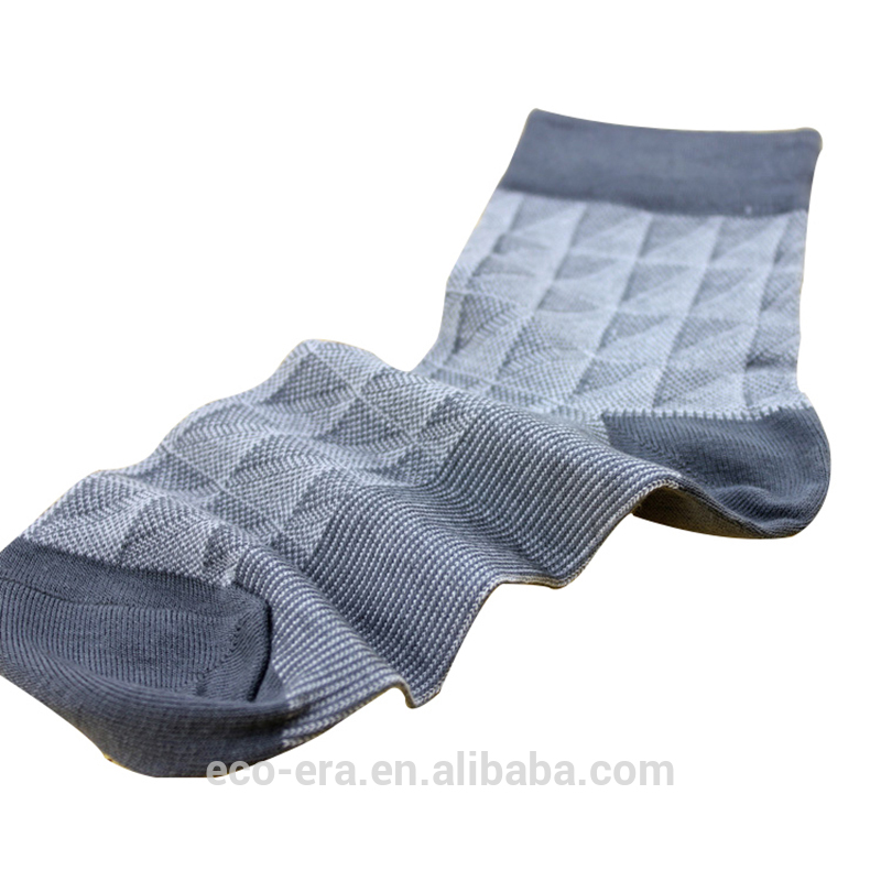 High Quality 100% Bamboo Man Sock Promotion Casual Check Sock