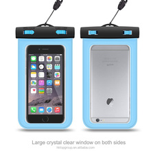 2016 Hot Sale Smartphone Waterproof Dry Bag Case for All Smartphones/Cellphones up to 6''