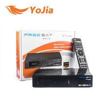 Malaysia Hot selling full HD satellite receiver freesat V7 combo dvb S2 T2 support powervu biss key CAS cccam card sharing