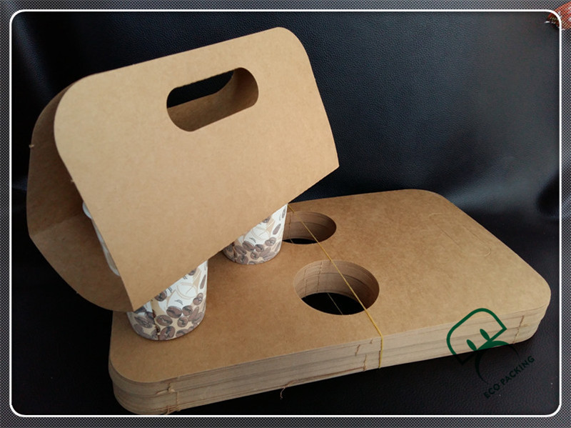 Flat packing cup holder paper bag coffee to go cup