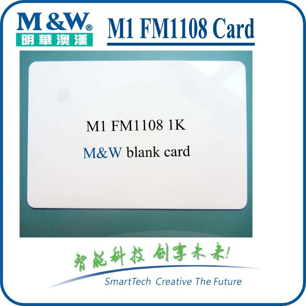 Blank Contact IC Card ISO 7816 AT24C64 1K Smart Chip Card