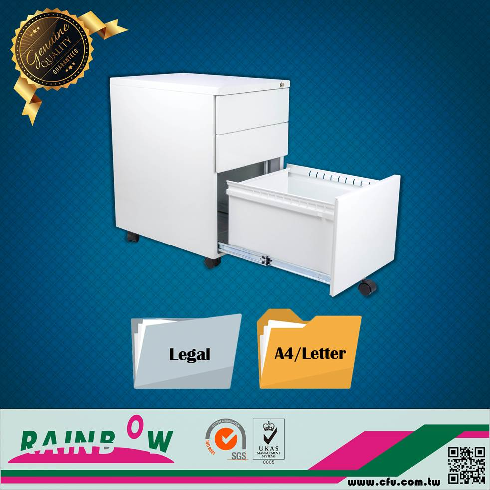 Taiwan factory Office Furniture White Metal 4 Drawer Lateral File Cabinet Shelf