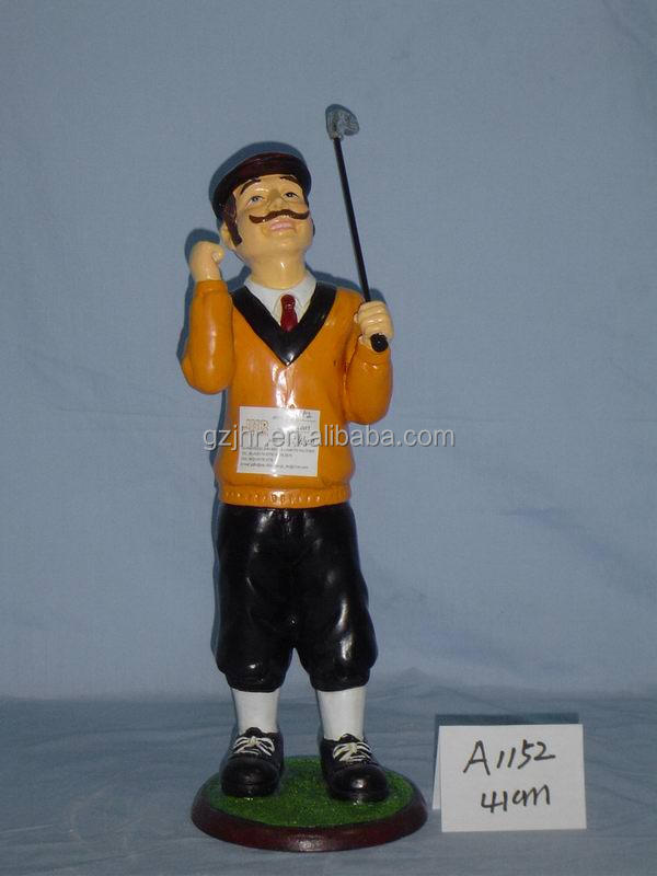 Resin Golf Player Deco Craft
