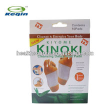 high quality KINOKI detox foot patch,natural ingredients,herb extract,10 pcs/box,CE approval,real factory