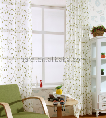 high quality latest designs embroidery sheer curtain for living room